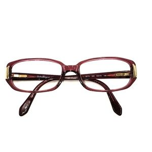 Vintage Salvatore Feragamo Pink Oval Sunglasses